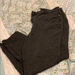 Stretch gray skinny pants